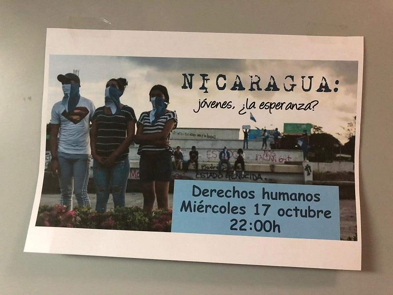 Tertulia sobre los Derechos Humanos en Nicaragua - Voluntariado Internacional - Colegio Mayor Mara - CMU Mara