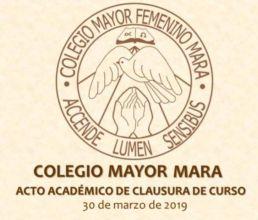 Acto Académico de Clausura del Curso 2018-2019 en el CMU Mara - Colegio Mayor en Madrid